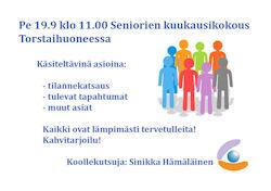 Seniorien kuukausikokous19-9-2014