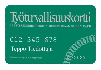 Huomio työturvallisuuteen - korttikoulutus kesäkuussa