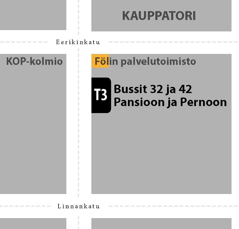 Muutoksia Kauppatorin bussipysäkkeihin