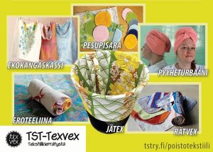 TST-Texvexin uusiotuotteet Kirppis-Centereissä