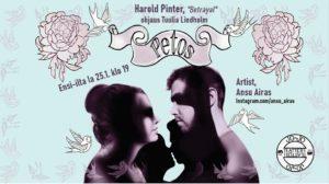 Jo-Jo Teatterissa Harold Pinterin näytelmä Petos