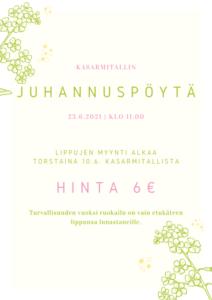 KasarmiTallin juhannuspöytä 23.6.